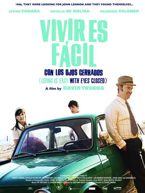 """Affiche """"Vivir es fácil con los ojos cerrados"""" (2013)"""