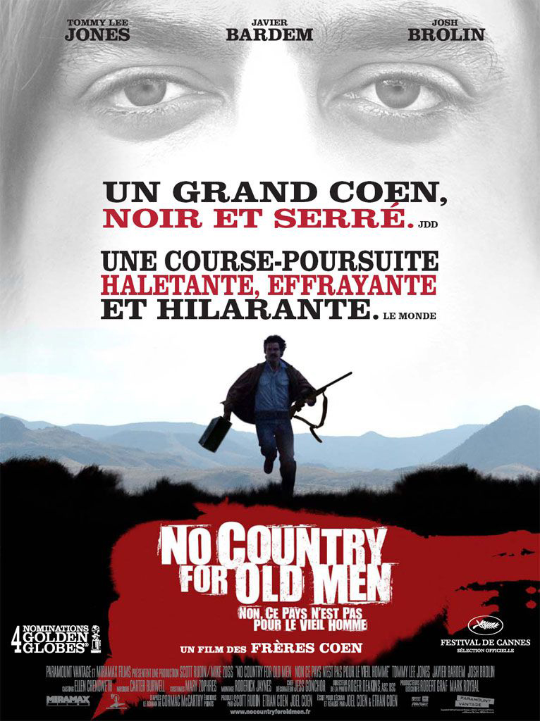 """Affiche """"No Country for Old Men"""" (2007)"""
