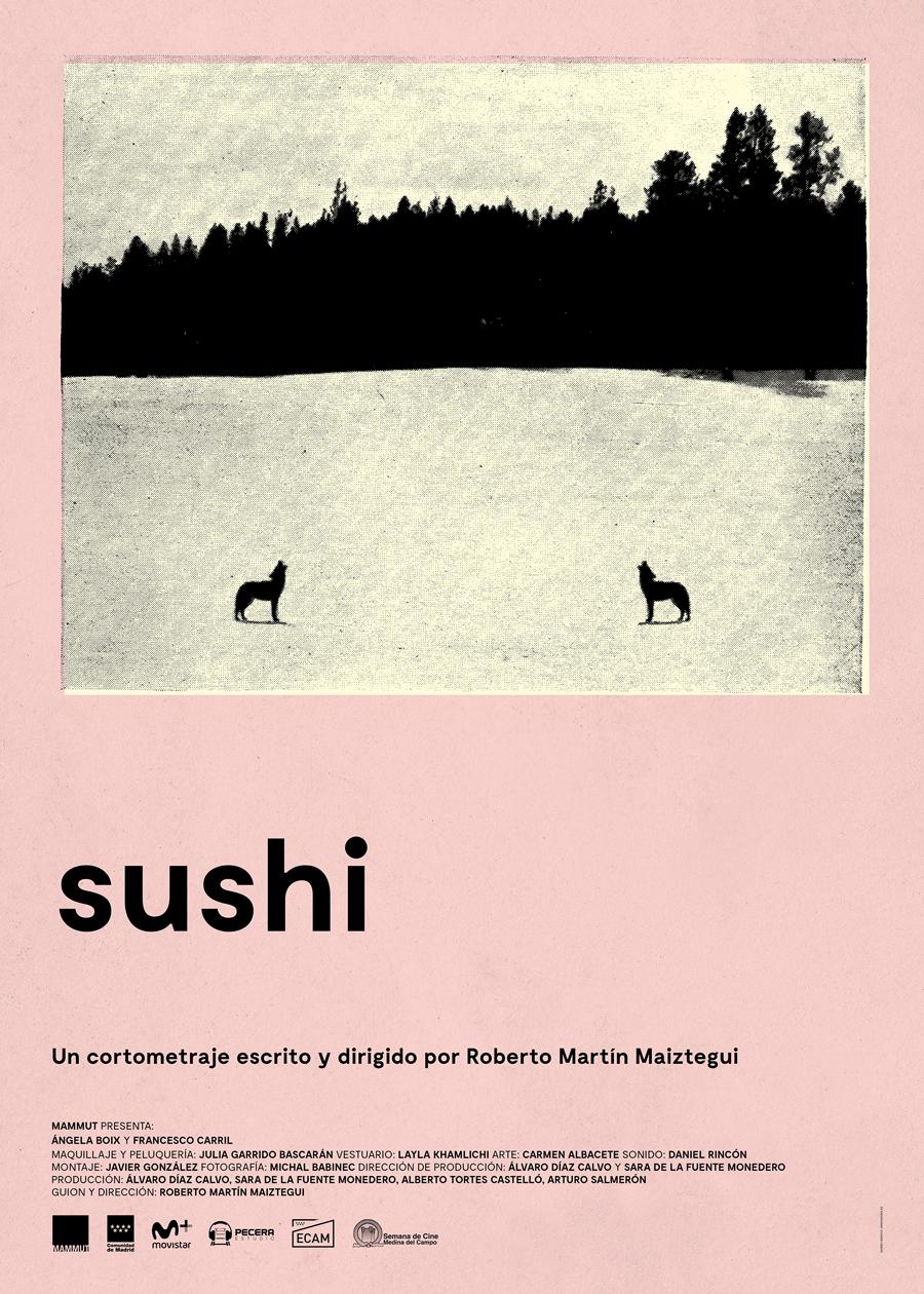 "Affiche ""Sushi"" de Roberto Martín (2018)"