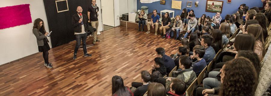 Echange entre Juan Gordon et des collégiens et lycéens - FCEN 2019