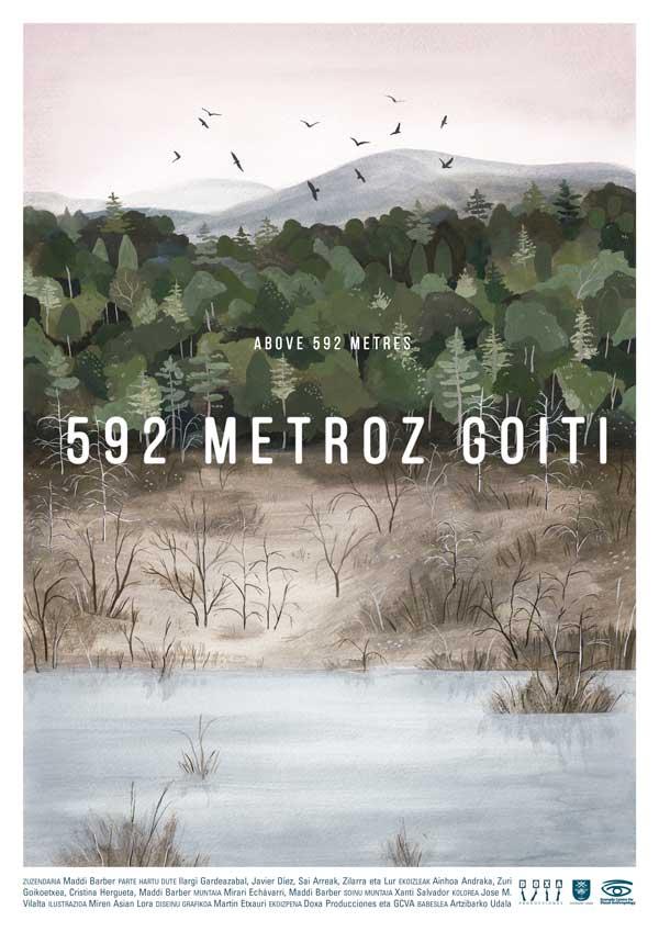 """Affiche """"592 metroz goiti"""" de Maddi Barber (2018)"""