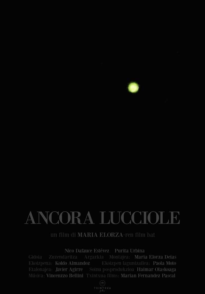 """Affiche """"Ancora lucciole"""" de Maria Elorza (2018)"""