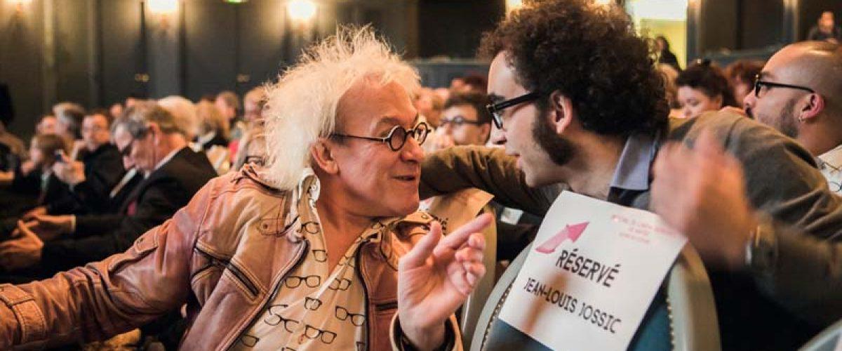 """Jean-Louis Jossic, ancien adjoint délégué à la Culture de la Ville de Nantes, et Luis E. Parés, acteur, """"Los exiliados románticos"""""""