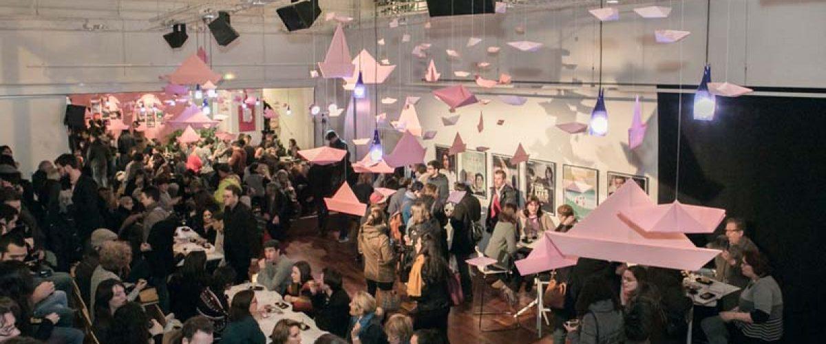 Public de la Soirée spéciale du court-métrage venu profiter du set musical proposé par DJ Popofski à l'Espace Cosmopolis