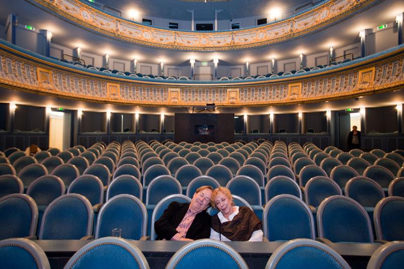L'actrice Rosa Maria Sardà et le réalisateur Ventura Pons au Théâtre Graslin en 2009