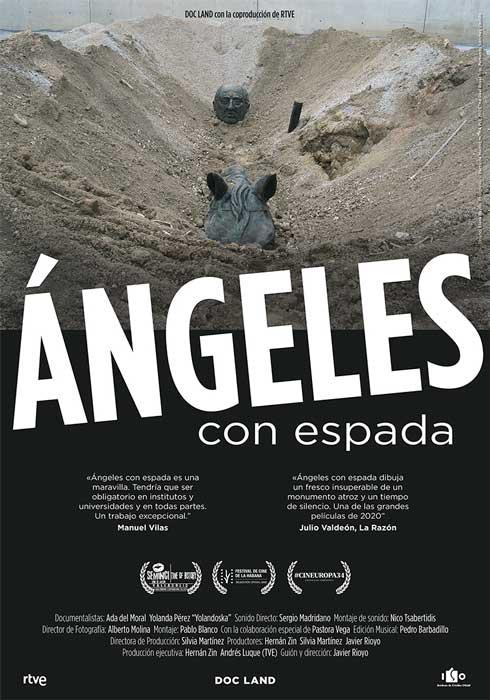 """Affiche """"Ángeles con espada"""" (2020)"""
