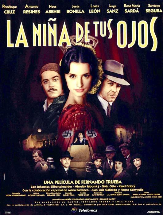 """Affiche """"La niña de tus ojos"""" / """"La fille de tes rêves"""" (1998)"""